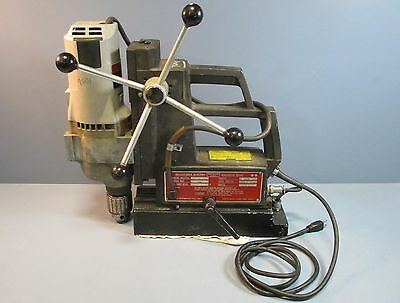 Milwaukee 4297-1 Drill w/ Gamag 4020VSMTS Electromagnetic Base Used