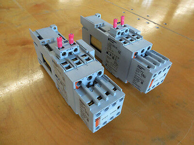 Lot of (2) Sprecher & Schuh CA7-30D-00 Contactor, 55 Amp, with CS7-PV Aux.