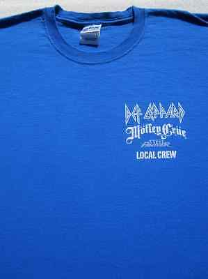 DEF LEPPARD tour Local Sound Crew XL T-SHIRT motley crue steel panther concert