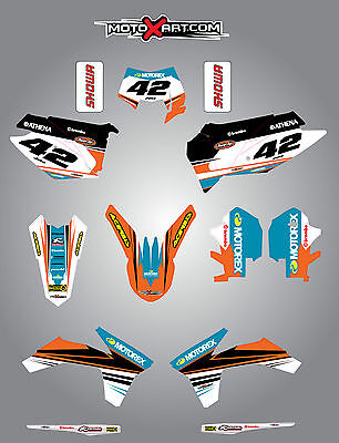 KTM EXC 2012 - 2013 Full  Custom Graphic  Kit - STRIKE STYLE stickers/decals