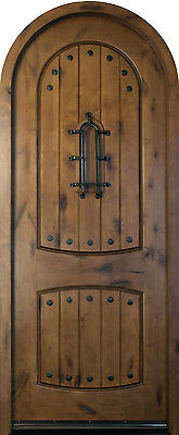 Solid Wood Knotty Alder Entry Door Single Prehung Dark Knotty Alder Finish 595