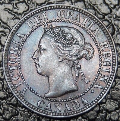 OLD CANADIAN COIN - 1897 - LARGE CENT - Victoria - Gorgeous Detail & Tone - NCC