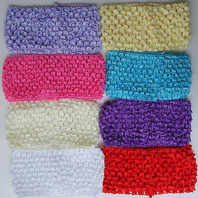 "Baby Headband Headbands Bulk Wholesale Lot X8 Crochet 3"" Tutu Dress Skirt New"