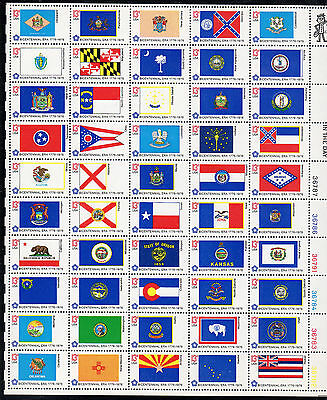 Us 1633-82 @ (1976) Mnh 13¢ - Sheet Of 50 - State Flags