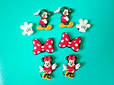 s Clog Shoe Plug Button Charm Accessories 8 Minnie Mickey Mouse Bracelet