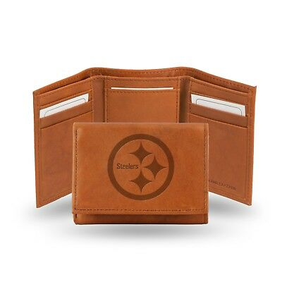 Pittsburgh Steelers NFL Embossed Leather Trifold Wallet ~ New