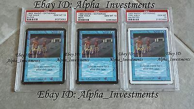 3 x PSA 10 GEM MINT Timewalk Time Walk Collection ALPHA BETA UNLIMITED