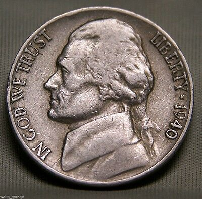 1940 D Jefferson Nickel, Nice, Circulated, Low Mintage of 43.5 Mil, Ship Free