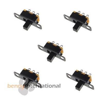 10x SPDT SLIDE SWITCH ON-OFF Mini PCB Mount Metal Miniature - AUS STOCK