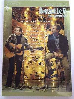 beatleg 9/2009 Japan Music Magazine Simon & Garfunkel Elvis Presley James Taylor
