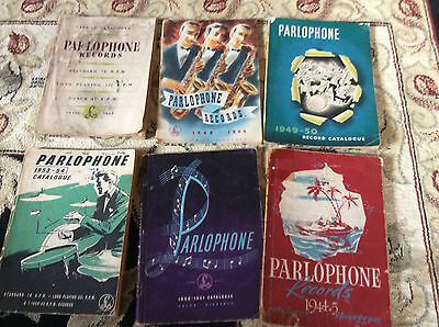 Original Parlophone Record Catalogues x 6 previously owned by Kevin Daly
