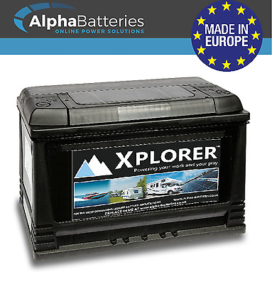 Deal Pair Of 12V Sealed Xplorer 115 Ah Heavy Duty Leisure Battery Caravan | Boat