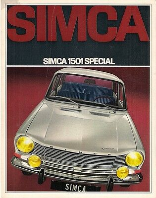 Simca 1501 Special 1968-69 French Market Leaflet Sales Brochure Saloon Estate