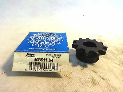 "New In Box Martin 40Bs11 3/4"" Bored To Size Sprocket"