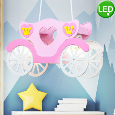 Lampe enfants éclairage plafonnier lustre rose suspension LED 14watt Globo 15724