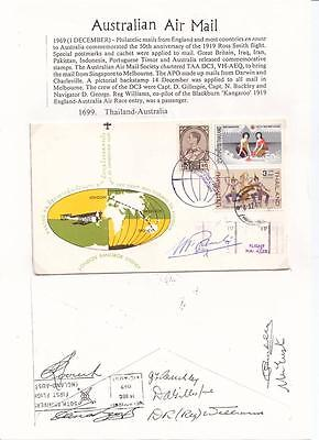 1969 50th.Anniversary Thailand-Australia Signed Flight Cover