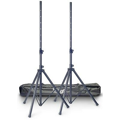 Stagg SPSQ10 PA Loud Speaker Stand Set Pair with Carry Bag Case