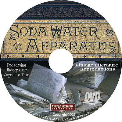 1886 Tuft Soda Water Apparatus Catalog { Vintage Soda Fountain } on DVD