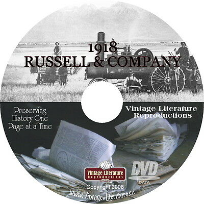 1918 Russell & Co Steam Engine and Thresher Catalog  on DVD