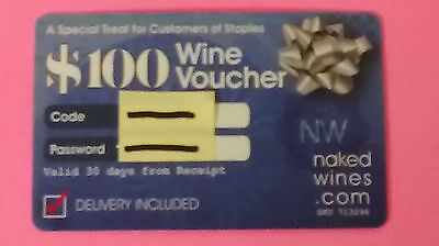 $100.00 GIFT CARD for NAKEDWINES.COM Get $100 off a $160 + case of wine