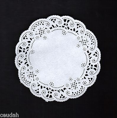"(200) 8"" Round White Lace Paper Doily Doilies Party Decoration Elegant Accent"