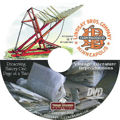1920 Lindsay Brothers Antique Farm Machinery Catalog on DVD