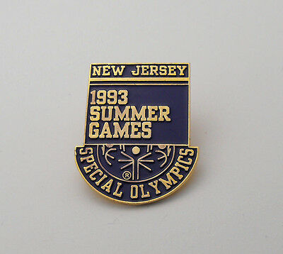 1993 Summer Games New Jersey Special Olympics Gold Tone Lapel / Tie Tack Pin