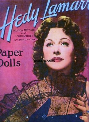 VINTAGE UNCUT 1951 HEDY LAMARR PAPER DOLLS~#1 TOP REPRO~MADE FROM ORIG~NOSTALGIC