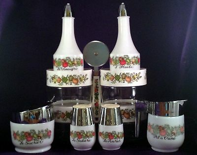 Vintage Gemco Spice of Life 11pc. Kitchen Set–Includes 4 Pyrex Containers w/Lids