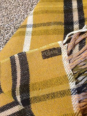 Chase Wool Plaid Carriage Sleighride Buggy Blanket Horse Lap ©1880's EUC ANTIQUE