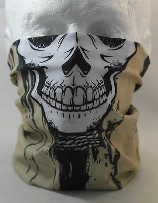Multifunction head wrap neck tube scarf mask hat SKULL FACE cycling  Airsoft