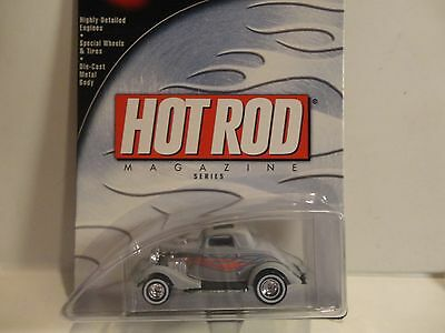 Hot Wheels 100% Hot Rod Revista Gris '34 Ford Coupe con/Pilotos Reales