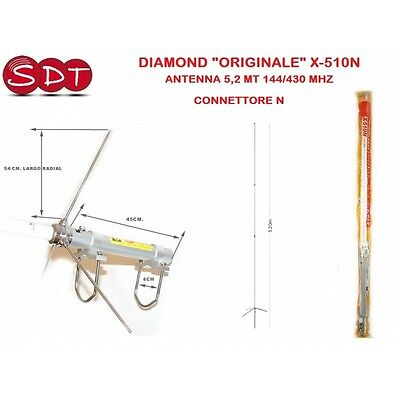 "Diamond ""originale"" X-510N Antenna 5,2 Mt 144/430 Mhz - Connettore N"