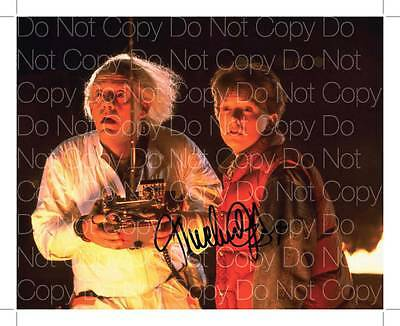 Back to the Future signed Michael J Fox 8X10 photo picture autograph poster RP 3