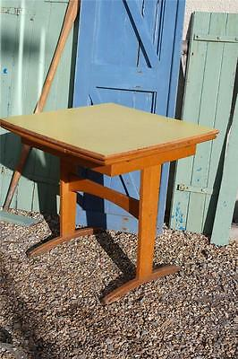 Vintage Formica Dining Table Beech Base Retro Table Extending 1960's Table Chic