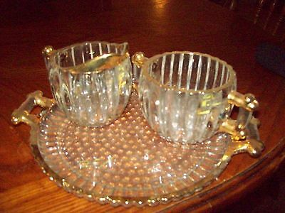 Jeanette Gold trimmed sugar and creamer