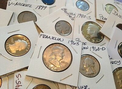 US COIN COLLECTION-FRANKLIN-DOLLAR-SILVER-PROOF-GOLD-PLATINUM-OLD-ESTATE LOT