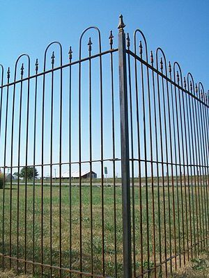 Our 6' Solid Steel Fence is Used For Lawn Enclosures & Swimming Pool Surrounds