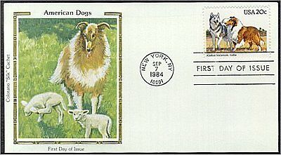 Collie First Day Cover dog stamp