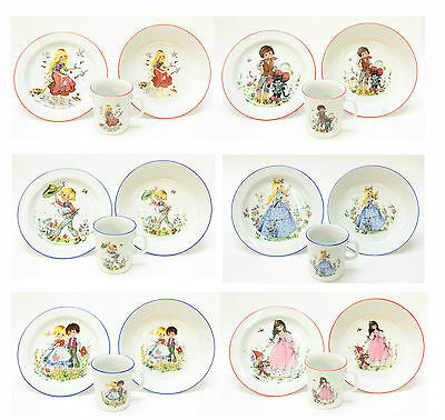 Child place setting with modern fairy tale motifs