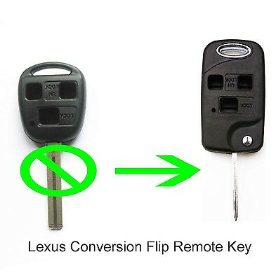 Fits to Lexus IS200 GS300 LS400 RX300 3 Button CONVERSION Flip Remote Key Fob