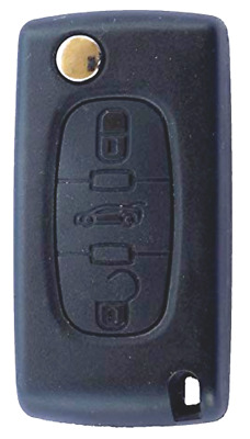 Fits Peugeot 207 307 407 308 3 Button FOB Remote Key CASE  with uncut blade