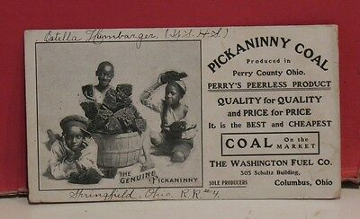 Vintage Pickaninny Coal Blotter - Perry County OH