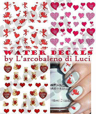 Water Decals San Valentino Amore Stickers Unghie Nail Art Adesivi Tattoo Decal