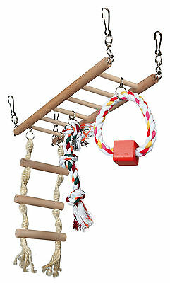 Wooden Hamster Suspension Bridge Toy for Hamsters Mice Gerbils Rodents
