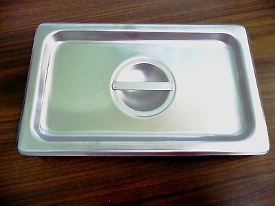 Fourth Size 1/4 18-8 Stainless Steel Table Pan Cover *New*