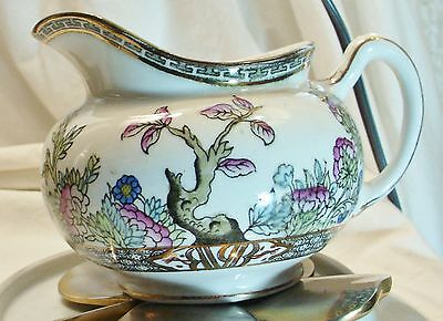 """1912 top quality J & G Meakin Creamer """"Indian Tree""""  HAND PAINTED Antique"""