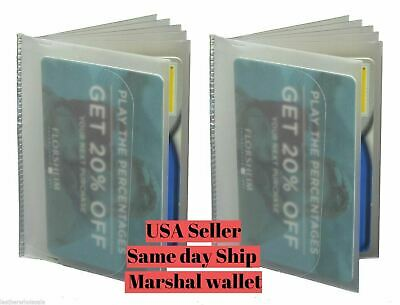 2 Plastic Wallet Insert Replacement Picture Card Holder Trifold 6 Pg