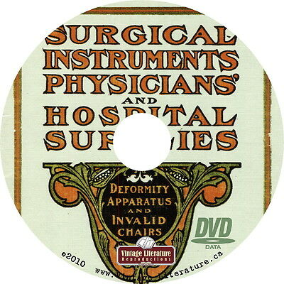 1904 Sears Surgical Instruments ~ Medical Catalog on DVD