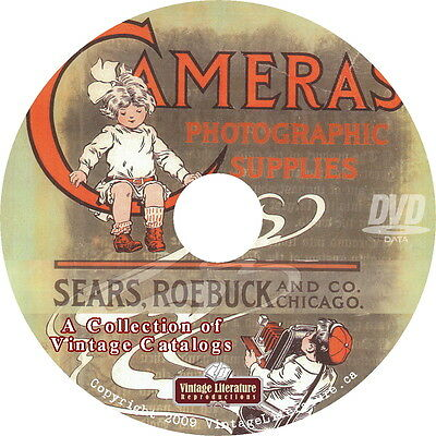 1913 Sears Camera and Photography Supplies Catalog on DVD